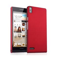 Coque Plastique Rigide Mat pour Huawei Ascend P6 Rouge
