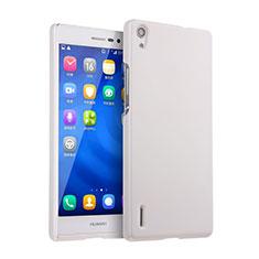 Coque Plastique Rigide Mat pour Huawei Ascend P7 Blanc