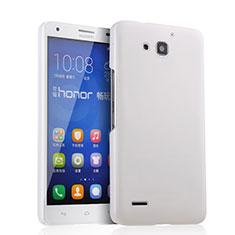Coque Plastique Rigide Mat pour Huawei Honor 3X G750 Blanc
