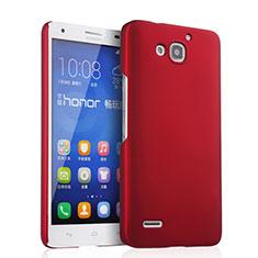 Coque Plastique Rigide Mat pour Huawei Honor 3X G750 Rouge