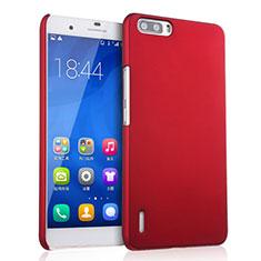 Coque Plastique Rigide Mat pour Huawei Honor 6 Plus Rouge