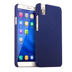 Coque Plastique Rigide Mat pour Huawei Honor 7i shot X Bleu