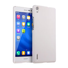 Coque Plastique Rigide Mat pour Huawei P7 Dual SIM Blanc
