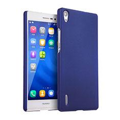 Coque Plastique Rigide Mat pour Huawei P7 Dual SIM Bleu