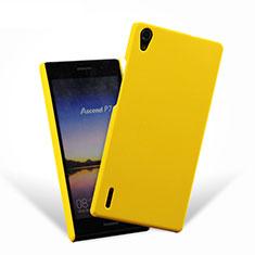 Coque Plastique Rigide Mat pour Huawei P7 Dual SIM Jaune