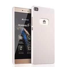 Coque Plastique Rigide Mat pour Huawei P8 Blanc