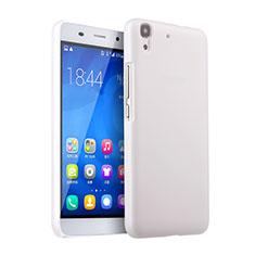 Coque Plastique Rigide Mat pour Huawei Y6 Blanc