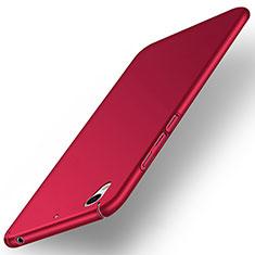 Coque Plastique Rigide Mat pour Huawei Y6 II 5.5 Rouge