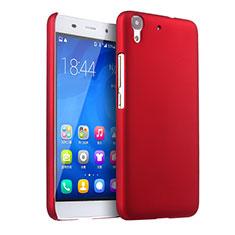 Coque Plastique Rigide Mat pour Huawei Y6 Rouge