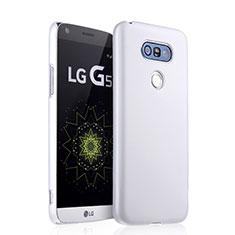 Coque Plastique Rigide Mat pour LG G5 Blanc
