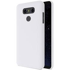 Coque Plastique Rigide Mat pour LG G6 Blanc