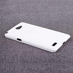 Coque Plastique Rigide Mat pour LG L Bello 2 Blanc