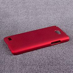 Coque Plastique Rigide Mat pour LG L Bello 2 Rouge
