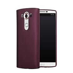 Coque Plastique Rigide Mat pour LG V10 Rouge