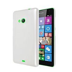Coque Plastique Rigide Mat pour Microsoft Lumia 535 Blanc