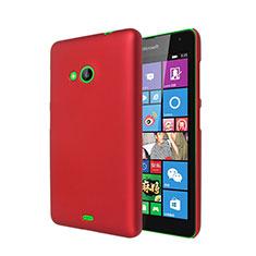 Coque Plastique Rigide Mat pour Microsoft Lumia 535 Rouge