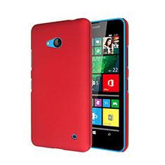 Coque Plastique Rigide Mat pour Microsoft Lumia 640 Rouge