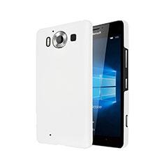 Coque Plastique Rigide Mat pour Microsoft Lumia 950 Blanc
