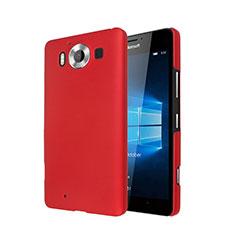 Coque Plastique Rigide Mat pour Microsoft Lumia 950 Rouge