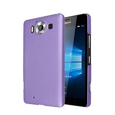 Coque Plastique Rigide Mat pour Microsoft Lumia 950 Violet