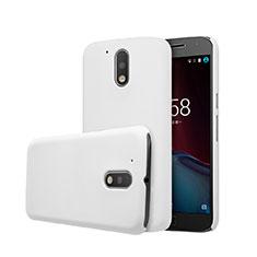 Coque Plastique Rigide Mat pour Motorola Moto G4 Blanc