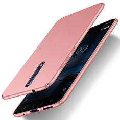 Coque Plastique Rigide Mat pour Nokia 8 Or Rose