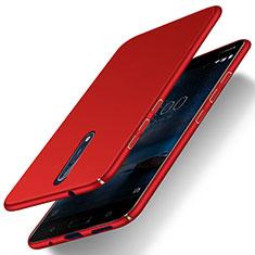Coque Plastique Rigide Mat pour Nokia 8 Rouge