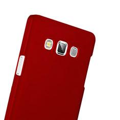 Coque Plastique Rigide Mat pour Samsung Galaxy A3 Duos SM-A300F Rouge