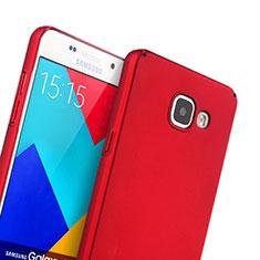 Coque Plastique Rigide Mat pour Samsung Galaxy A5 (2016) SM-A510F Rouge