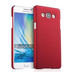 Coque Plastique Rigide Mat pour Samsung Galaxy A5 SM-500F Rouge
