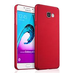 Coque Plastique Rigide Mat pour Samsung Galaxy A7 (2016) A7100 Rouge