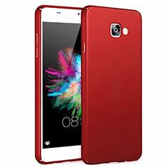 Coque Plastique Rigide Mat pour Samsung Galaxy A7 (2017) A720F Rouge