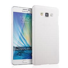 Coque Plastique Rigide Mat pour Samsung Galaxy A7 Duos SM-A700F A700FD Blanc