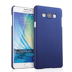 Coque Plastique Rigide Mat pour Samsung Galaxy A7 Duos SM-A700F A700FD Bleu