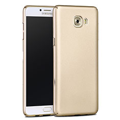 Coque Plastique Rigide Mat pour Samsung Galaxy C9 Pro C9000 Or