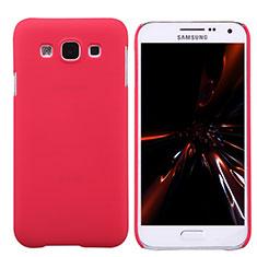 Coque Plastique Rigide Mat pour Samsung Galaxy E5 SM-E500F E500H Rouge
