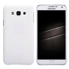 Coque Plastique Rigide Mat pour Samsung Galaxy E7 SM-E700 E7000 Blanc