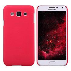 Coque Plastique Rigide Mat pour Samsung Galaxy E7 SM-E700 E7000 Rouge