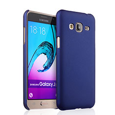 Coque Plastique Rigide Mat pour Samsung Galaxy J3 (2016) J320F J3109 Bleu