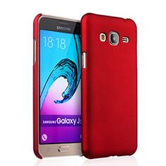 Coque Plastique Rigide Mat pour Samsung Galaxy J3 (2016) J320F J3109 Rouge
