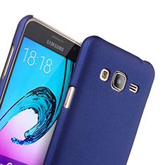 Coque Plastique Rigide Mat pour Samsung Galaxy J3 Bleu
