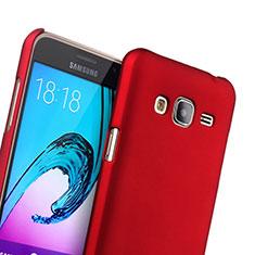 Coque Plastique Rigide Mat pour Samsung Galaxy J3 Rouge