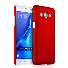 Coque Plastique Rigide Mat pour Samsung Galaxy J5 (2016) J510FN J5108 Rouge