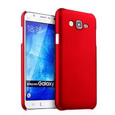 Coque Plastique Rigide Mat pour Samsung Galaxy J5 SM-J500F Rouge
