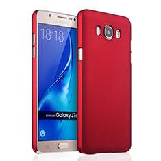 Coque Plastique Rigide Mat pour Samsung Galaxy J7 (2016) J710F J710FN Rouge
