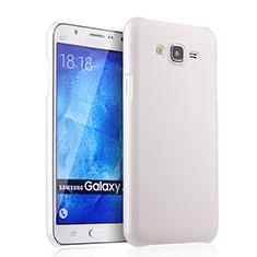 Coque Plastique Rigide Mat pour Samsung Galaxy J7 SM-J700F J700H Blanc