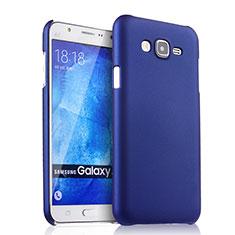 Coque Plastique Rigide Mat pour Samsung Galaxy J7 SM-J700F J700H Bleu