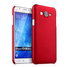 Coque Plastique Rigide Mat pour Samsung Galaxy J7 SM-J700F J700H Rouge