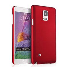 Coque Plastique Rigide Mat pour Samsung Galaxy Note 4 Duos N9100 Dual SIM Rouge