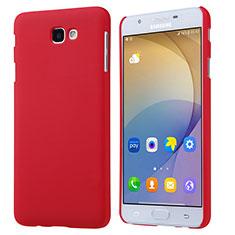 Coque Plastique Rigide Mat pour Samsung Galaxy On5 (2016) G570 G570F Rouge